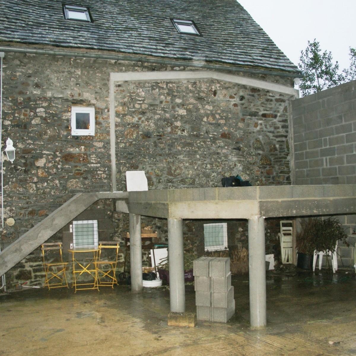 Nos r alisations travaux expert for Construire terrasse beton